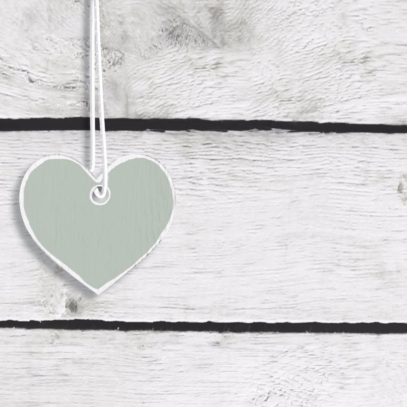 Hangende pastel harten hout 2