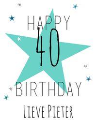 Verjaardagskaarten - Happy B'day eigen leeftijd-ByF