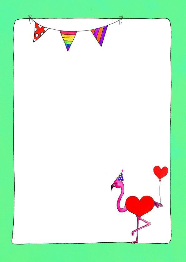 Happy Bird Day flamingo verjaardagskaart - SD 3