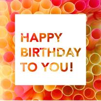 Verjaardagskaarten - happy birthday fotokaart