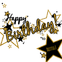 Verjaardagskaarten - Happy Birthday glamour glitter