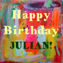 Verjaardagskaarten - Happy Birthday Julian