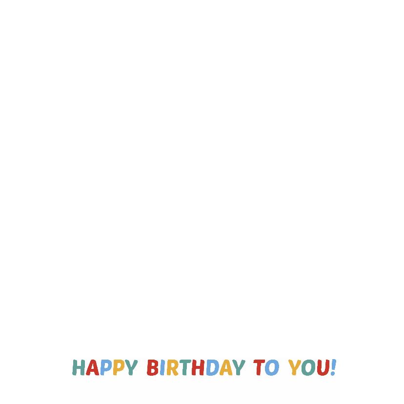 Happy birthday kleuren 3
