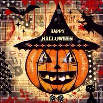 Halloween kaarten - Happy Halloween pumpkin
