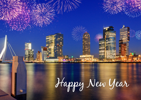 Nieuwjaarskaarten - Happy New Year from Rotterdam
