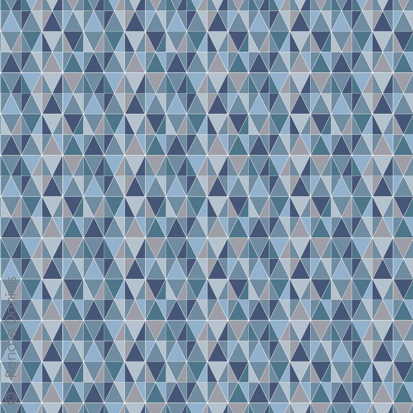 Happy new year geometrisch blauw 2