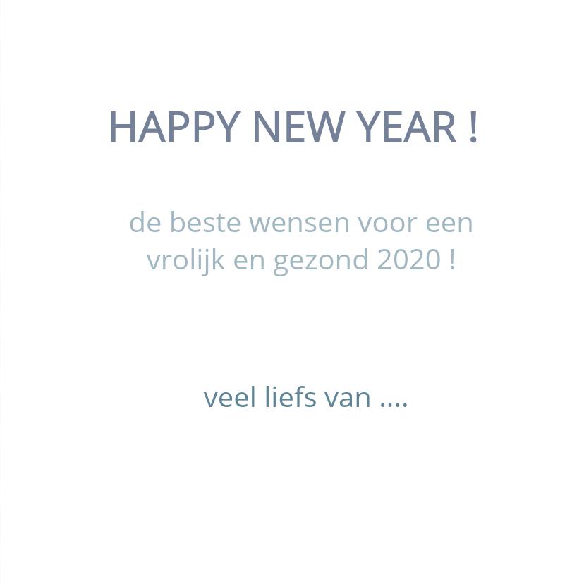 Happy new year geometrisch blauw 3