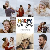 Happy New Year kerstkaart collage