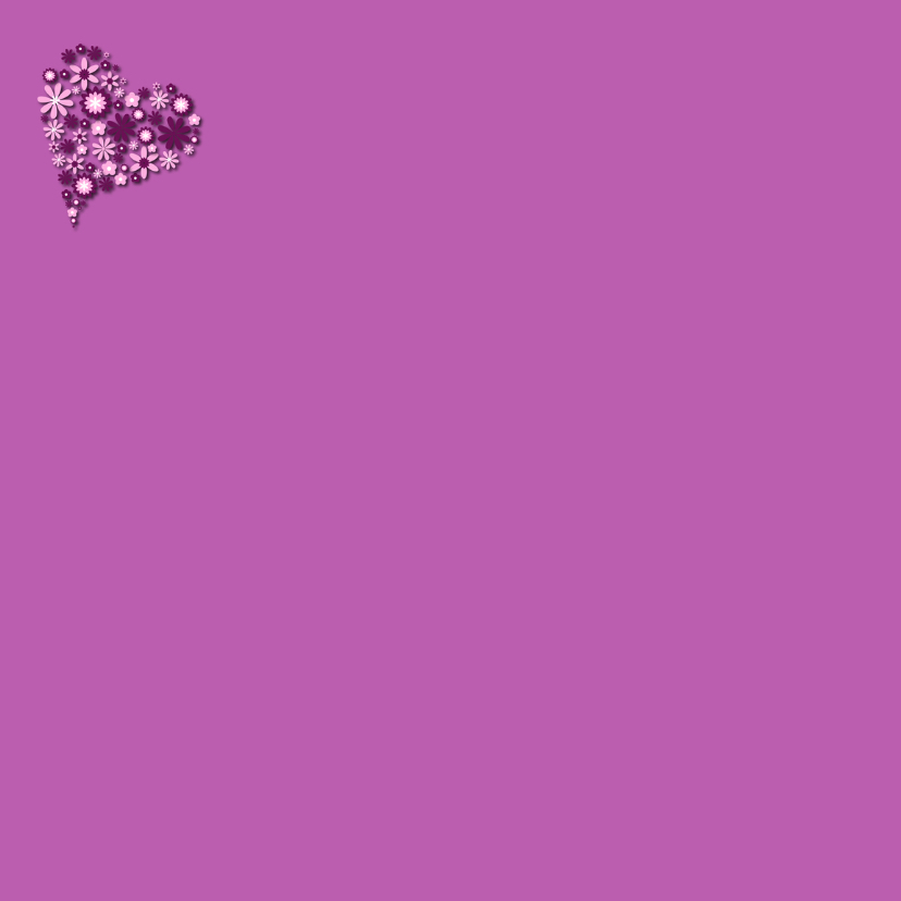 Hart van bloemen lila 2