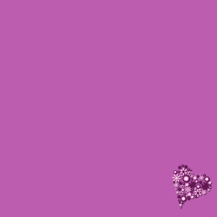 Hart van bloemen lila 3