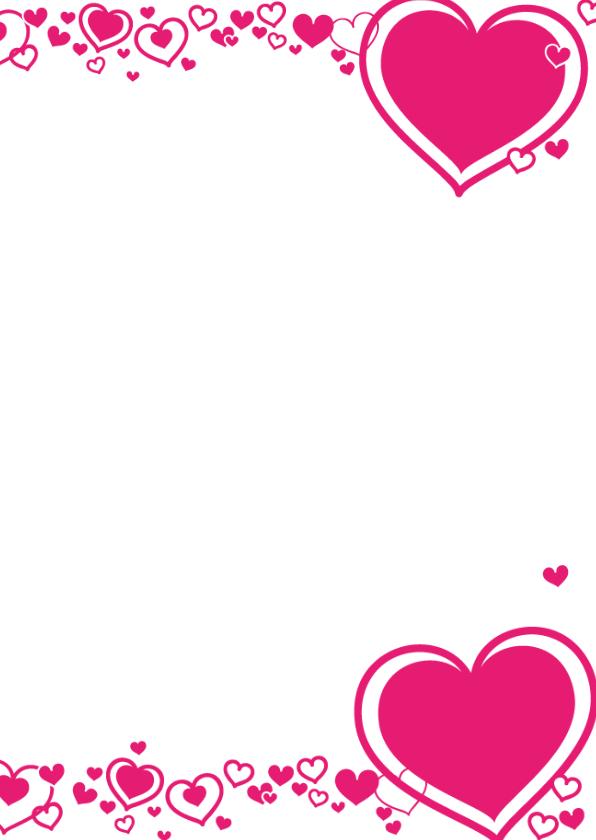 HARTJES Fotokaart met roze hartjes 3