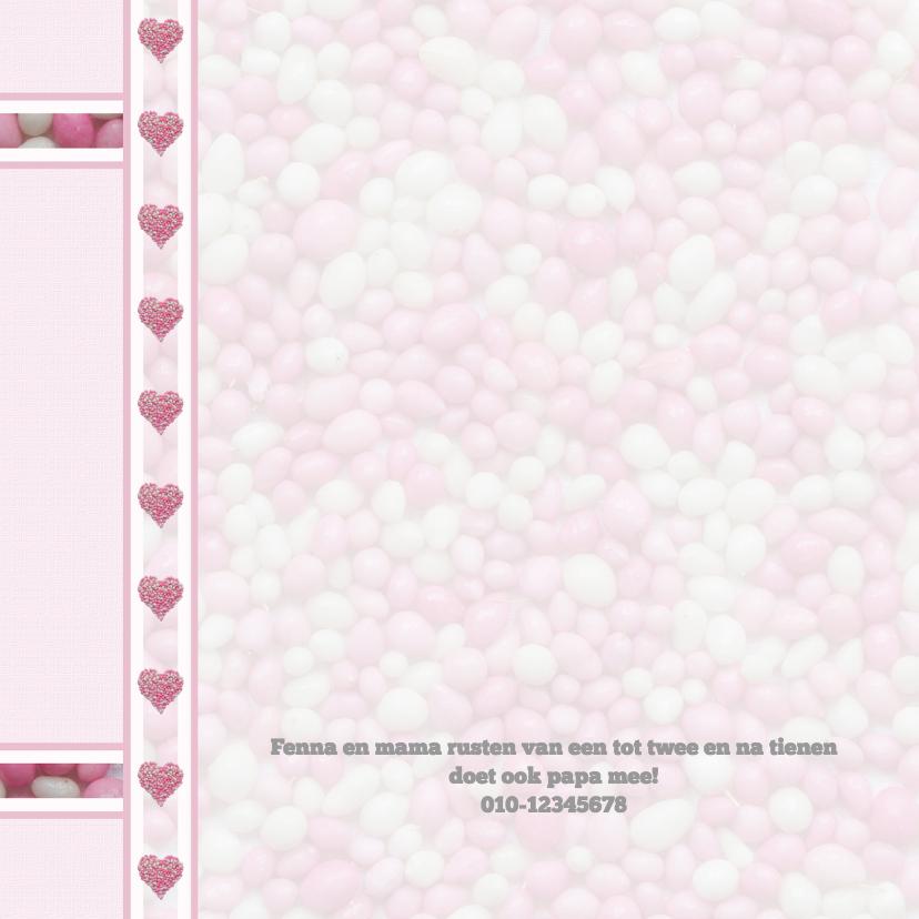 Hartjes met roze-witte muisjes 2