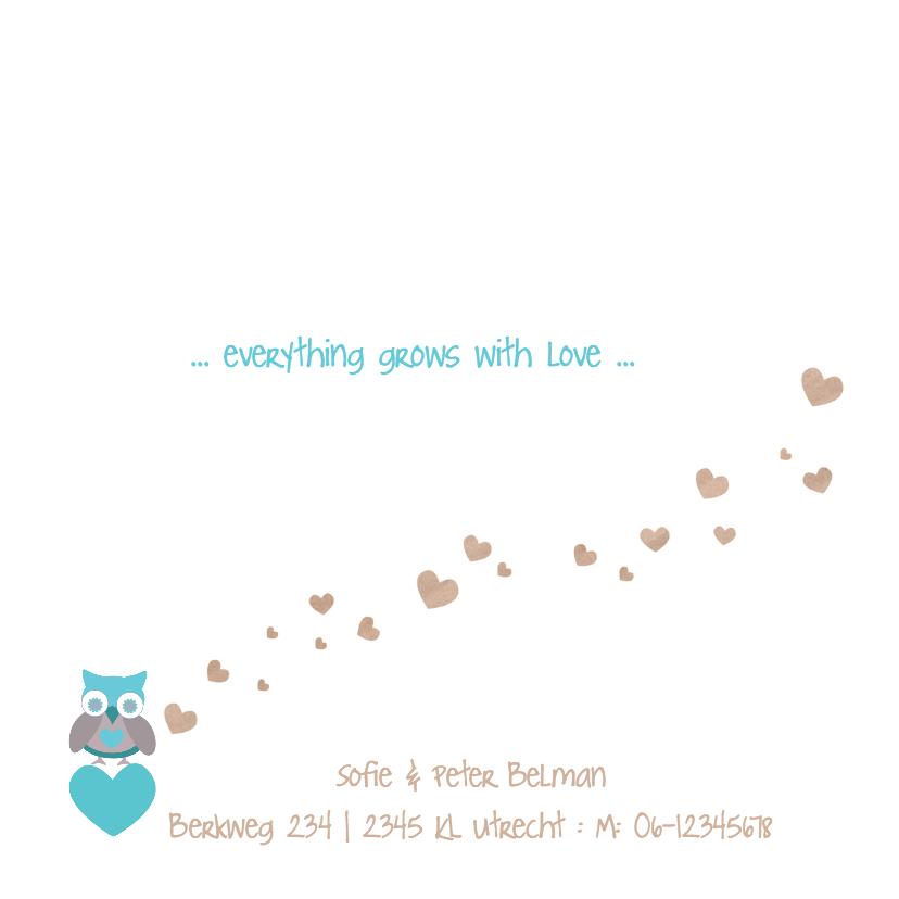 Hartjesboom geboortekaartje Mees 2