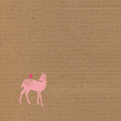 Hertje op kartonprint 2