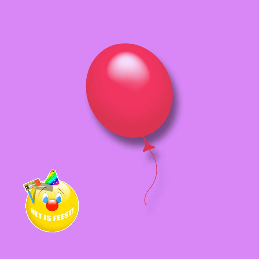 Het is feest smile ballonnen RB 2
