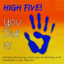 Geslaagd kaarten - High five, you did it!