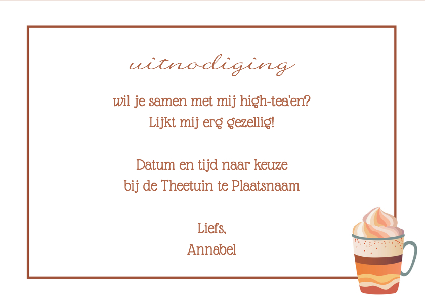 High Tea uitnodiging - DH 3