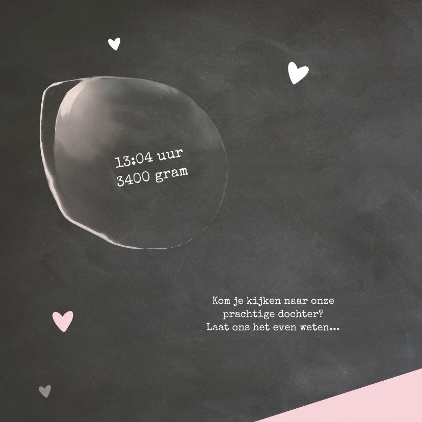 Hip babykaartje krijtbord 2