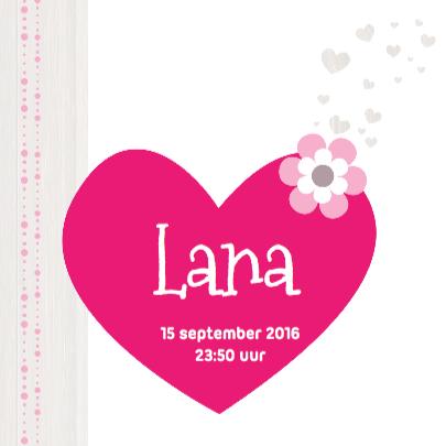 Hip Geboortekaartje Boom Lana 3