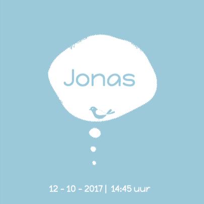 Hip geboortekaartje hert Jonas 3