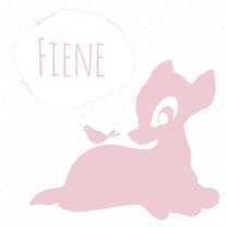 Geboortekaartjes - Hip geboortekaartje Hertje Fiene