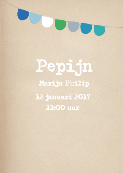 Hip geboortekaartje Pepijn 3