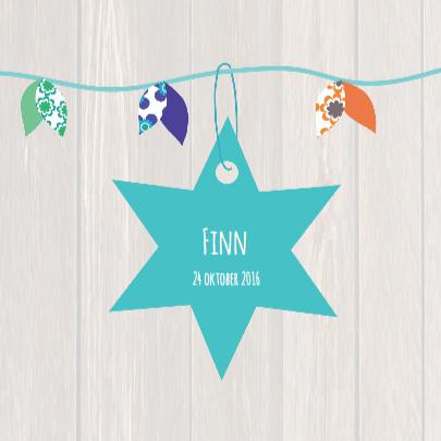 Hip geboortekaartje ster Finn 3