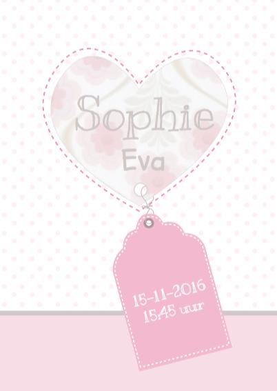 Hip geboortekaartje Uil Sophie 3