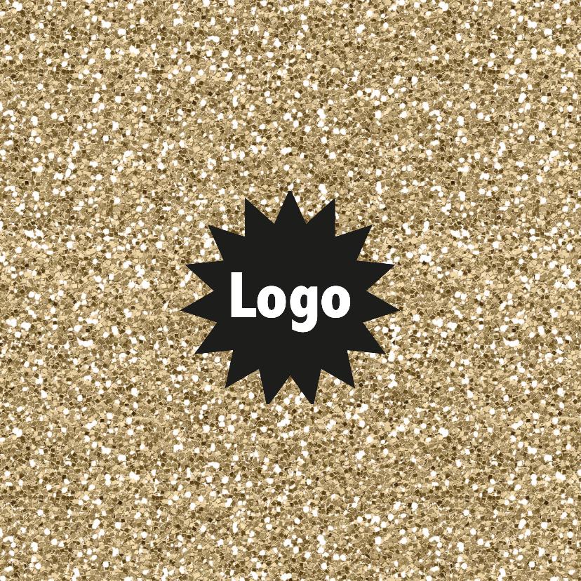Hippe glamour kerstkaart met logo 2
