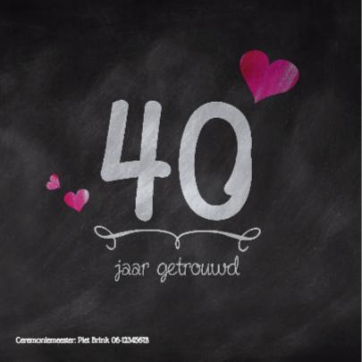 Hippe kaart 40 jaar huwelijk 2