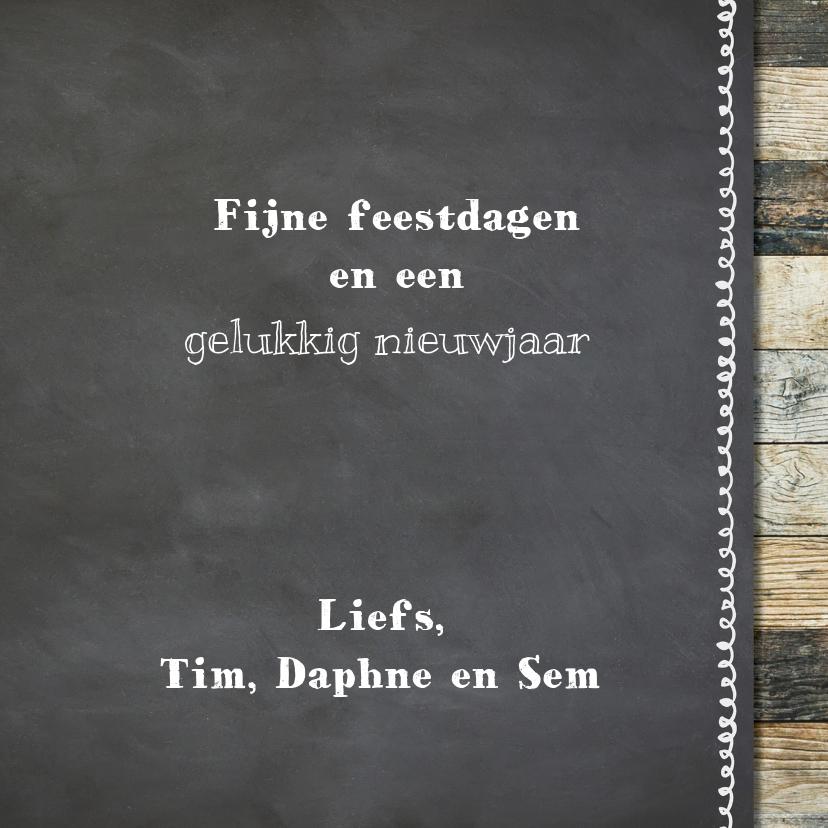 Hippe krijtbord kerstkaart - foto collage 3