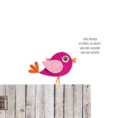 Hippe roze vogel 2