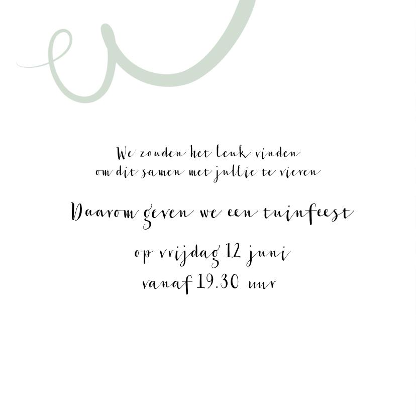 Hippe uitnodiging voor tuinfeest 2