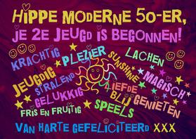 verjaardag 50 jaar vrouw Hippie 50 jaar   Verjaardagskaarten | Kaartje2go verjaardag 50 jaar vrouw