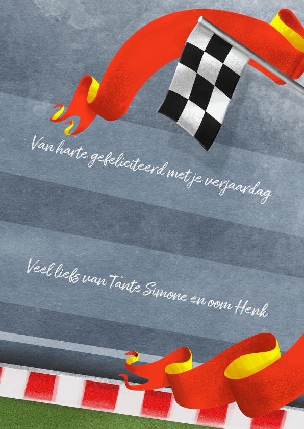 Hoera 8 jaar racebaan kaart 3