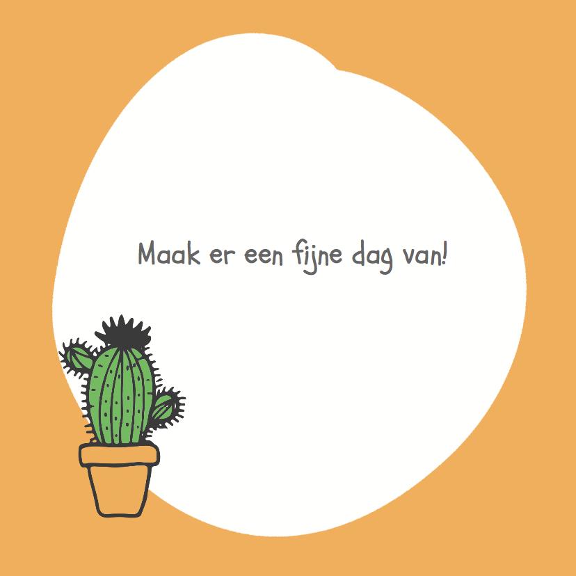 hoera jij bent jarig cactus 3