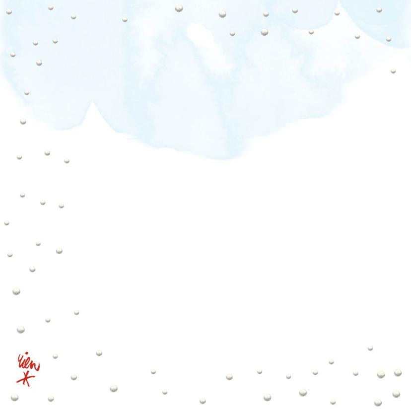 Hollandse kerstkaart met schaatsende kinderen  2