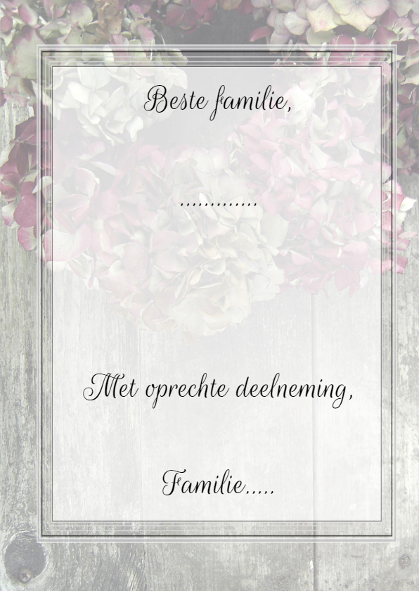 Hortensia's condoleancekaart 3