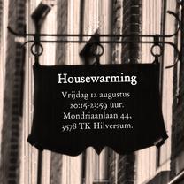Uitnodigingen - Housewarming bord zelf invullen