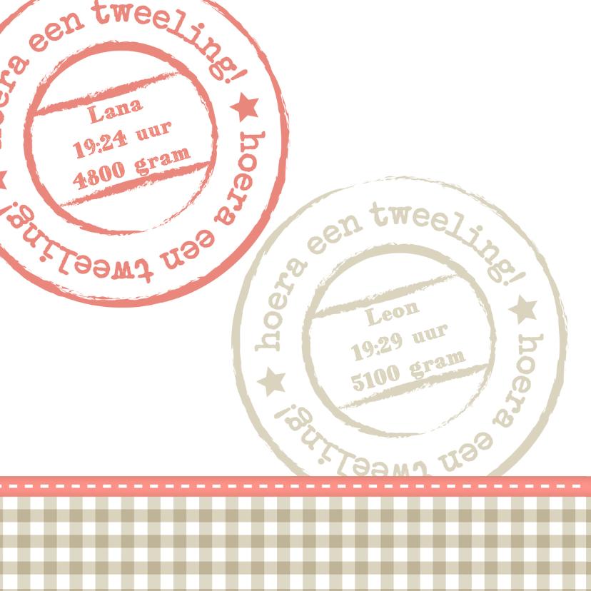 Hout met Label tweeling - BK 2