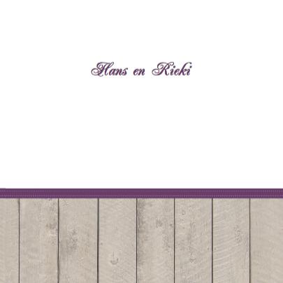 Hout paarse print uitnodiging 3