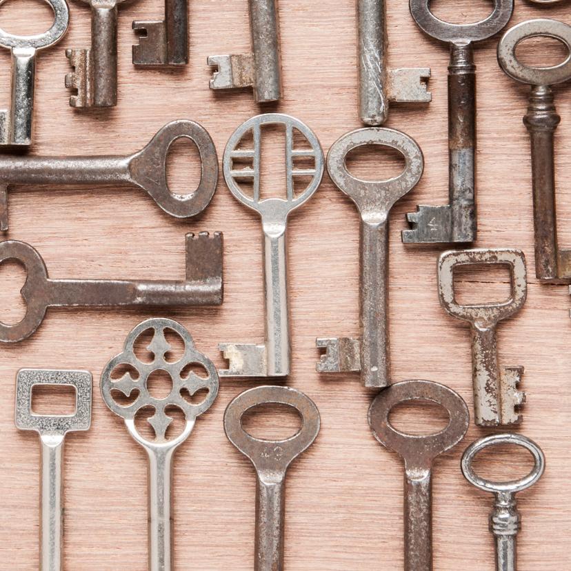 Huisje gemaakt van diverse sleutels 2