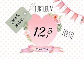 Jubileumkaarten - Huwelijksjubileum aquarelhart