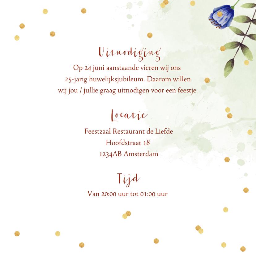 Huwelijksjubileum bloemen eucalyptus foto's 3