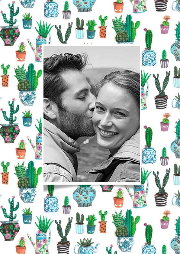 Huwelijksjubileum cactus uitnodiging 2