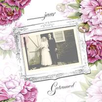 Jubileumkaarten - Huwelijksjubileum met pioenrozen
