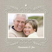 Jubileumkaarten - Huwelijksjubileum Papercut - SG