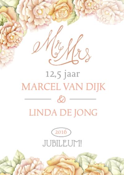 Huwelijksjubileum rozen klasiek 2