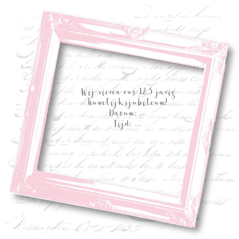 Huwelijksjubileum vintage lijst tekst  3