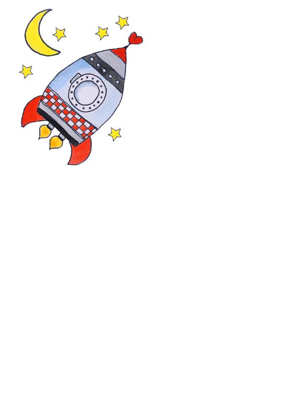 I love You to the Moon Back Raket - SD 2
